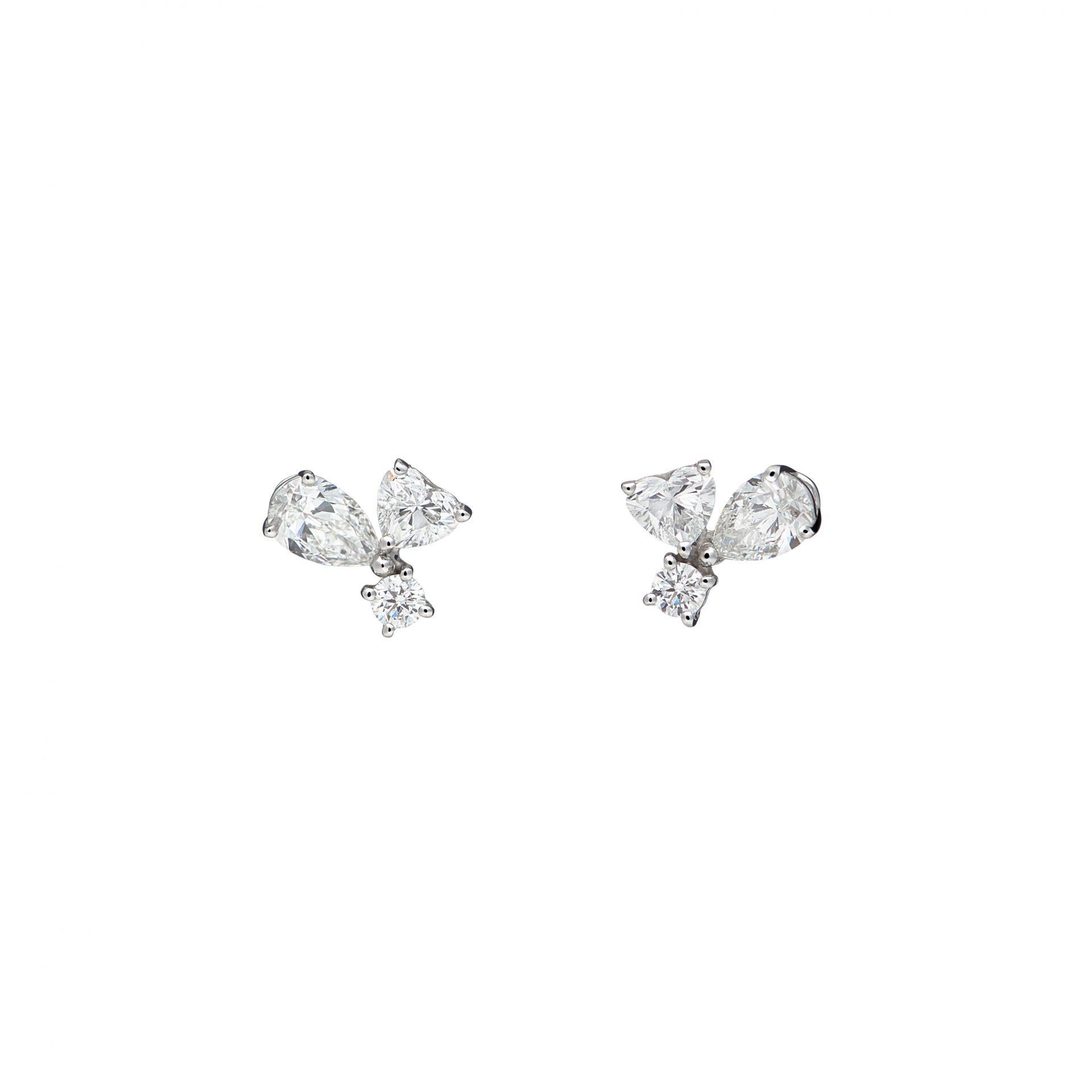 Felicity Trois Heart Earrings