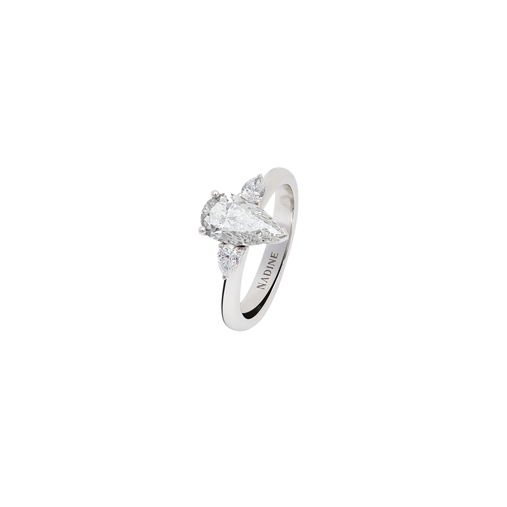 Felicity Drop Solitaire Ring