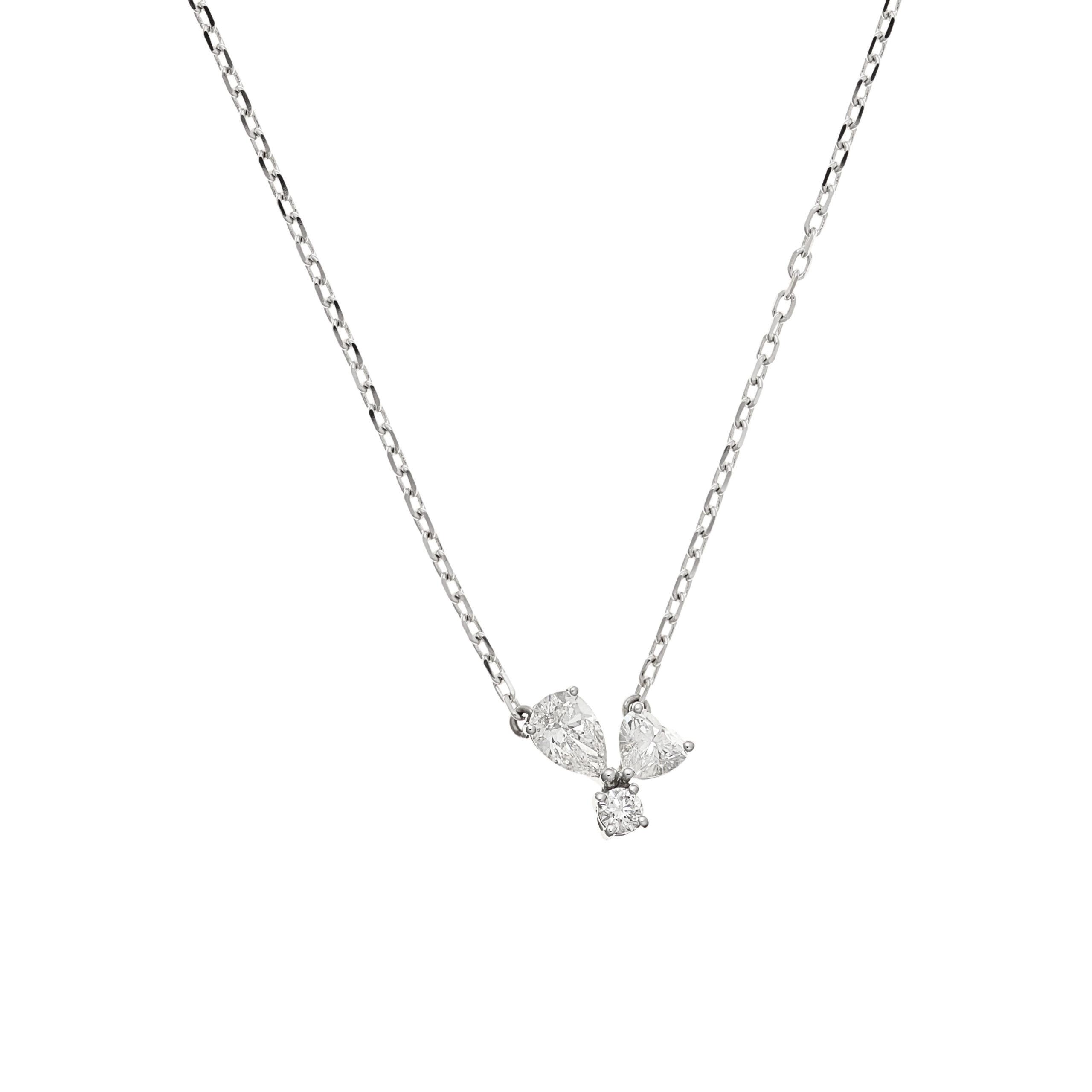 Felicity Trois Heart Necklace