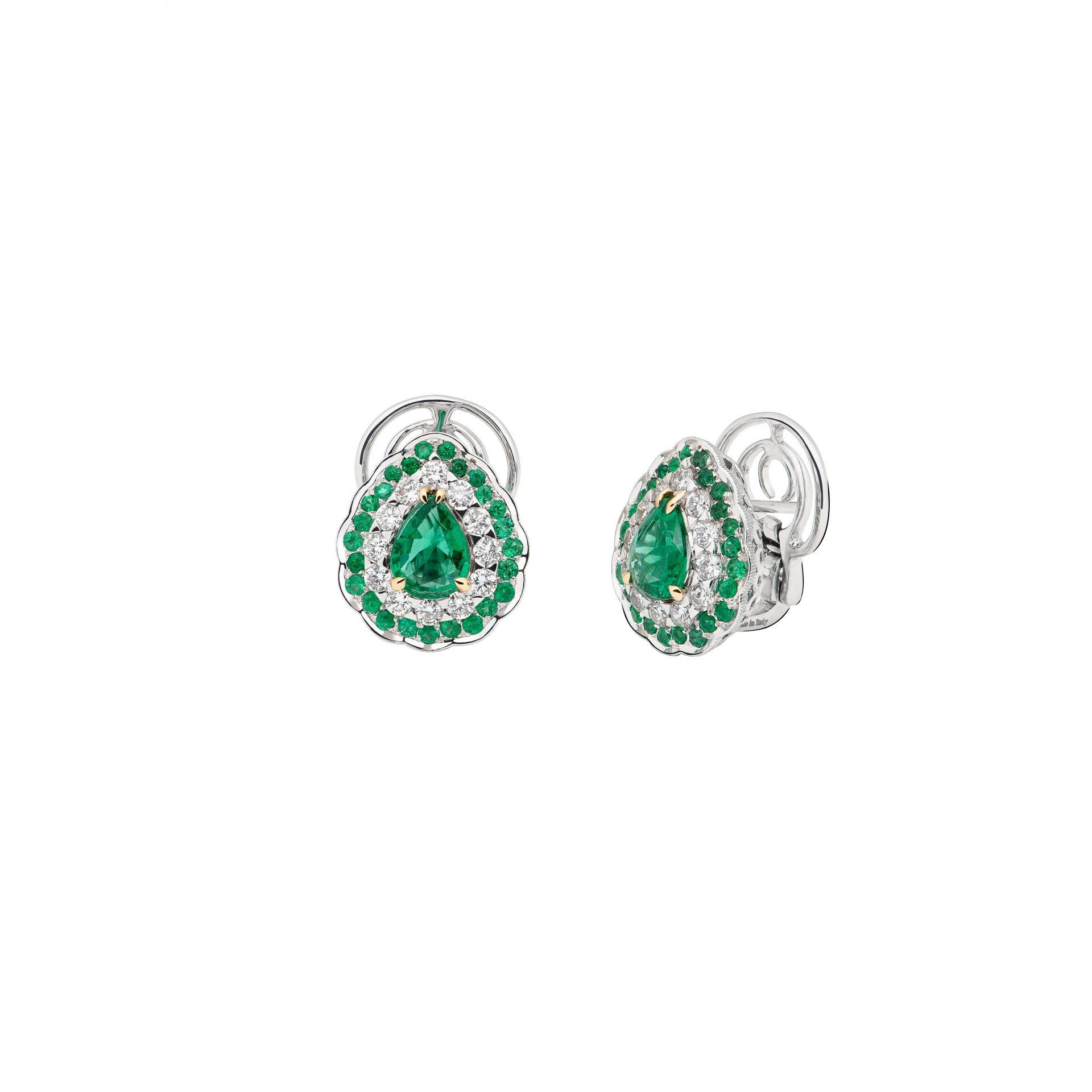 La Broderie Verte Earrings