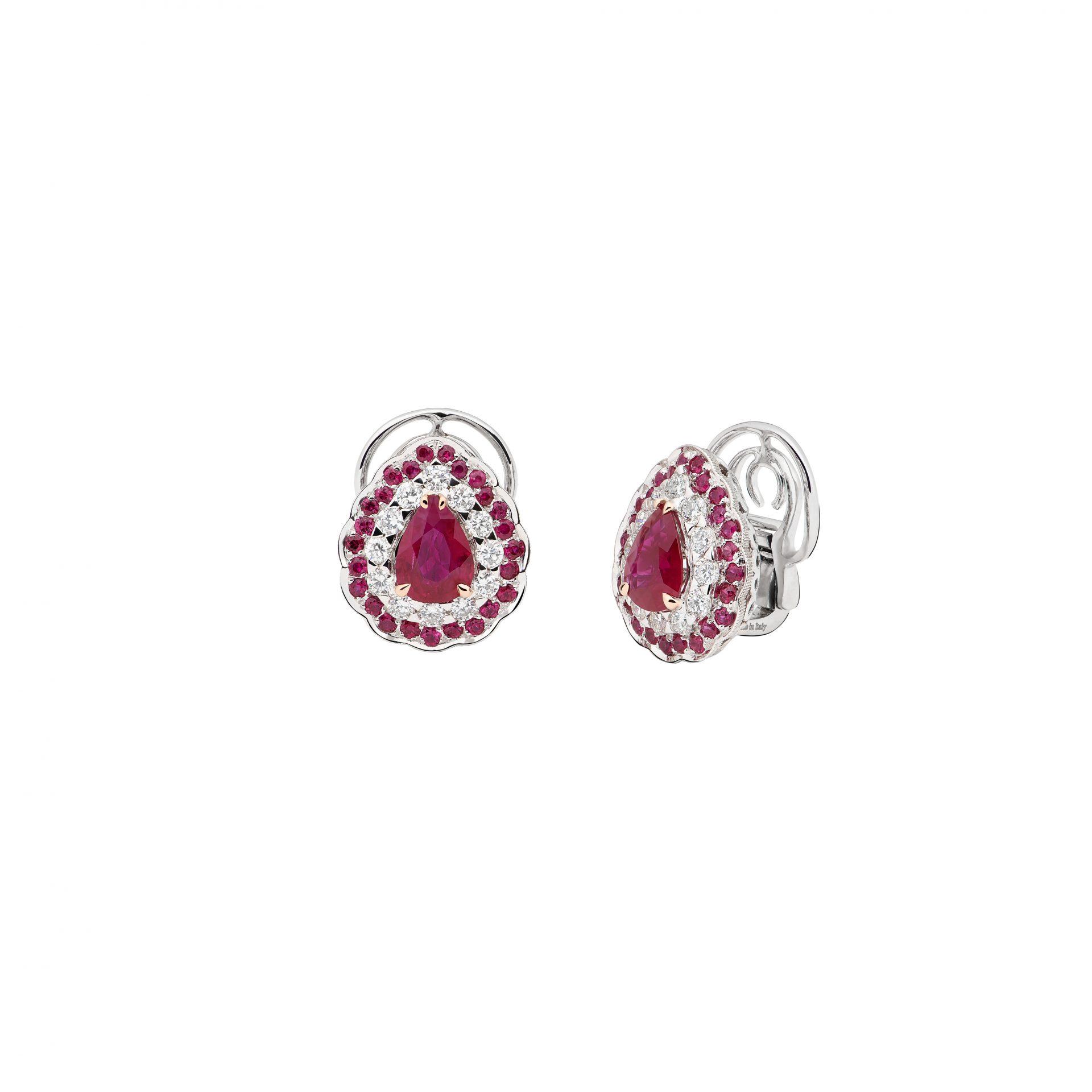 La Broderie Rouge Earrings