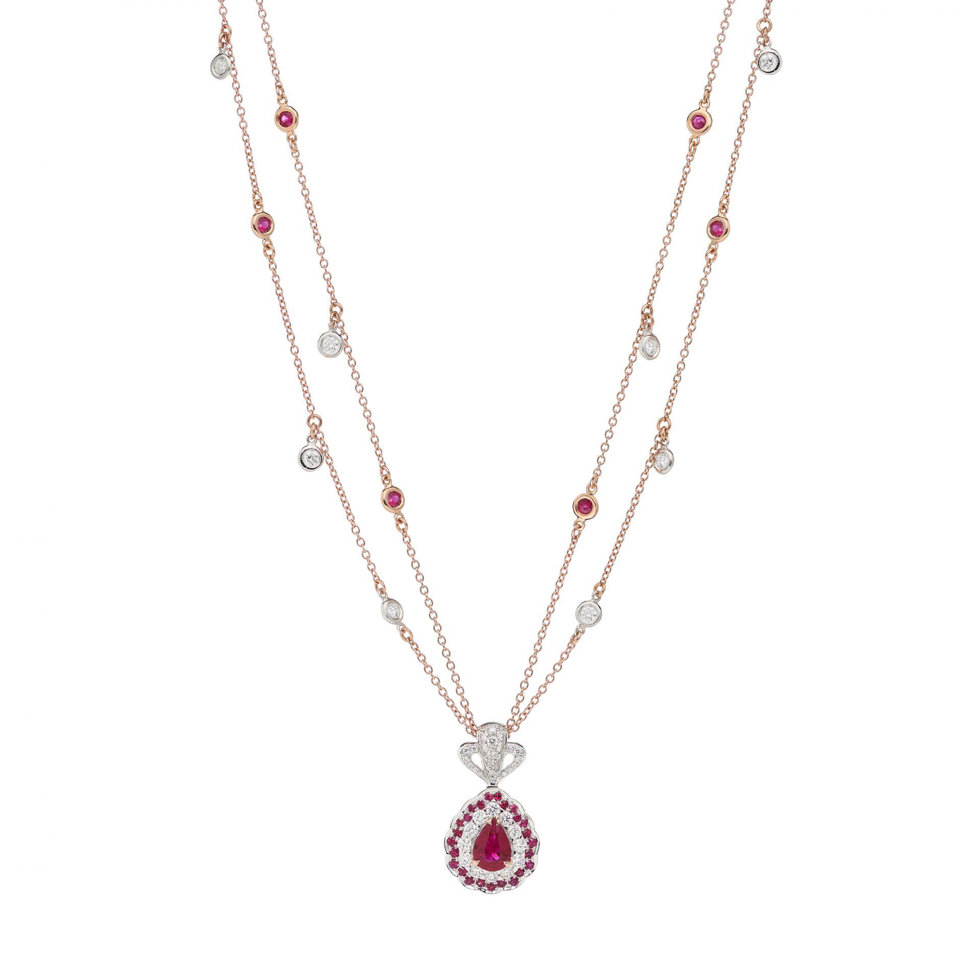 La Broderie Rouge Necklace