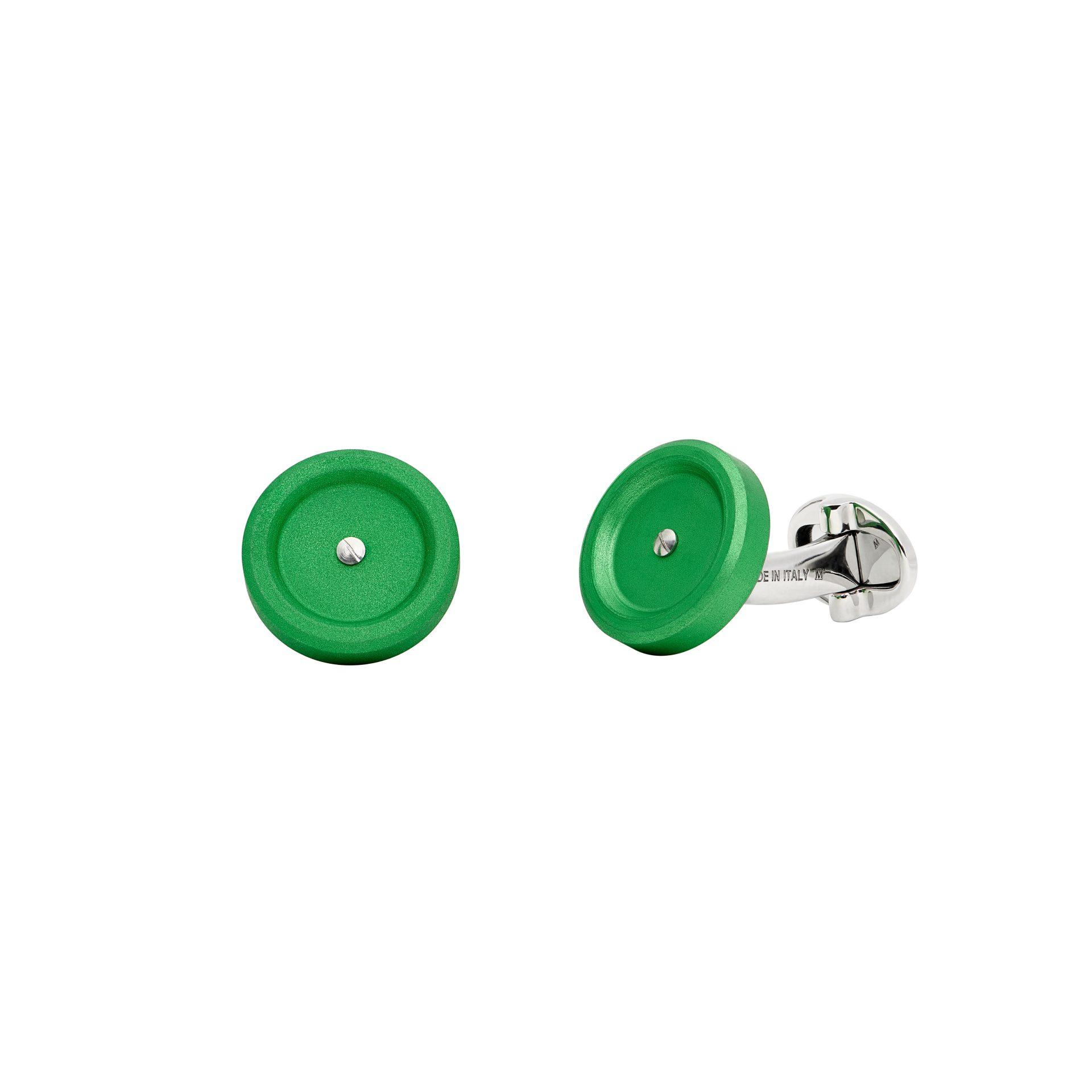 Mini Green Cufflinks