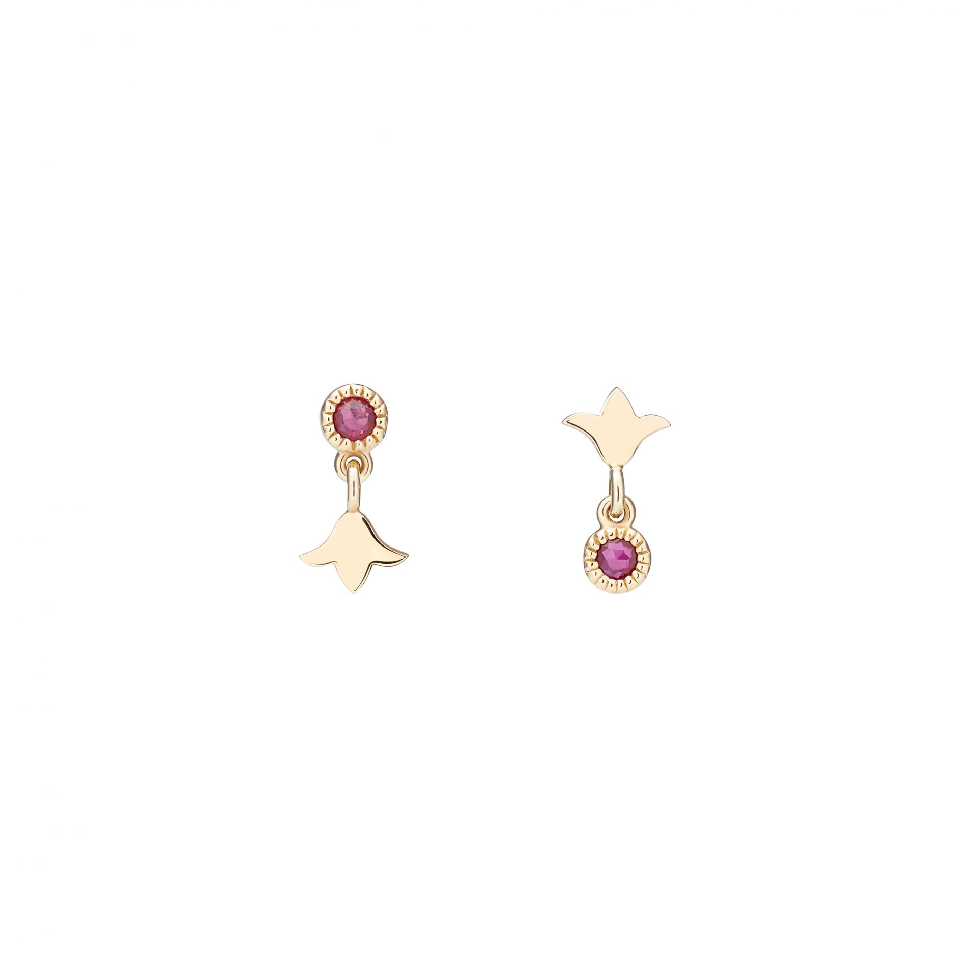 Red Lily Earrings