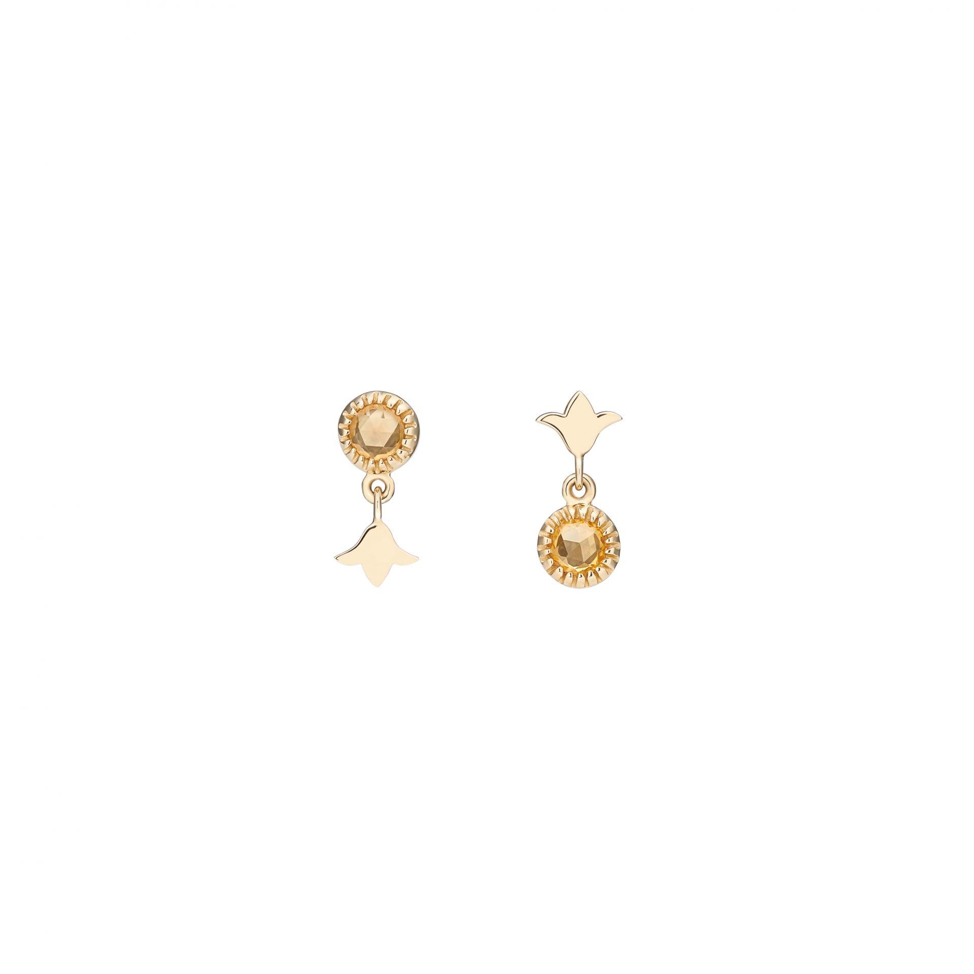 Rainbow Lily Earrings